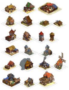 knights province - budynki