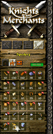 kody do knights and merchants: tpr - surowce