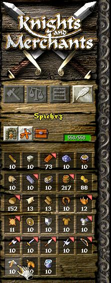 kody do knights and merchants: tsk - surowce