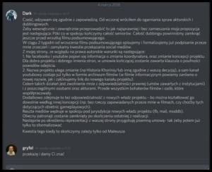 Kryzys w zespole Dziejów Khorinis - propozycja lidera