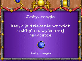 heroes 1 czary - Antymagia